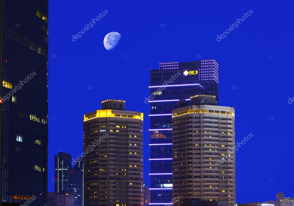 Beijing financial district at night — Stock Photo #11051549