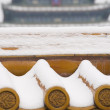 Tiles in the Forbidden City in winter Season — Stock Photo