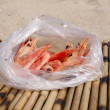 Doubtful shrimps in a package — Stock Photo