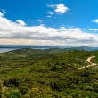 Beautiful nature landscape view from St. Michael Fortress - Stock Photo