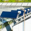 Solar panels on roof - Stockfoto