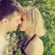 Kissing couple - Stock Photo