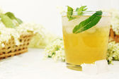 Drink from elder with mint — Stock Photo