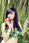 Eve with an apple — Stock Photo