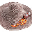 Hat with jewelry - Stock Photo