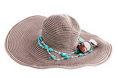 Hat with turquoise — Stock Photo