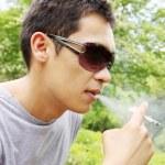 Smoking man — Stock Photo #12261078