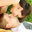 Romantic kiss — Stock Photo