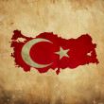 Vintage map of Turkey on grunge paper — Stock Photo