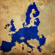 Stock Photo: Map of European Union countries on vintage paper