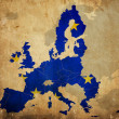 Map of European Union countries on vintage paper — Stock Photo