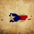 Vintage map of Puerto Rico on grunge paper — Stock Photo #10805740