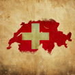ročník mapa Švýcarska na papíře grunge — Stock fotografie #10805830