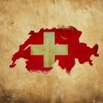 Vintage map of Switzerland on grunge paper — Stock Photo #10805830