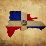 Vintage Karte von Dominikanische Republik auf Grunge-Papier — Stockfoto