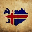 Stock Photo: Vintage map of Iceland on grunge paper