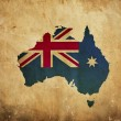 Vintage map of Australia on grunge paper — Stock Photo #10809046