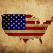 Stock Photo: Vintage map of United States of America on grunge paper