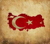 Vintage map of Turkey on grunge paper — Stock Photo
