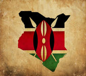 Vintage map of Kenya on grunge paper — Stock Photo