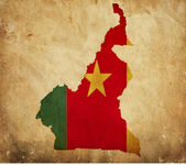 Vintage map of Cameroon on grunge paper — Stock Photo