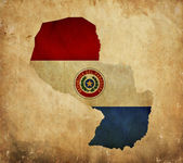 Vintage map of Paraguay on grunge paper — Stock Photo