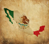 Vintage map of Mexico on grunge paper — Stock Photo
