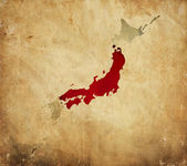 Vintage map of Japan on grunge paper — Stock Photo