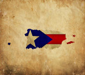 Vintage map of Puerto Rico on grunge paper — Stock Photo