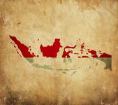 Vintage map of Indonesia on grunge paper — Stock Photo
