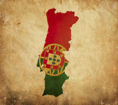 Vintage map of Portugal on grunge paper — Stock Photo
