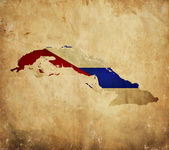 Vintage map of Cuba on grunge paper — Stock Photo