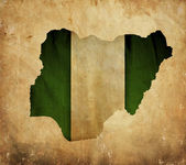 Vintage map of Nigeria on grunge paper — Stock Photo
