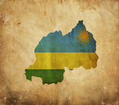 Vintage map of Rwanda on grunge paper — Stock Photo