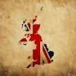 Vintage map of United Kingdom on grunge paper — Stock Photo