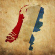 Vintage map of Netherlands on grunge paper — Foto de Stock