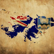 Foto Stock: Vintage map of Falkland Islands on grunge paper