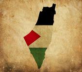 Vintage map of Palestine on grunge paper — Stock Photo