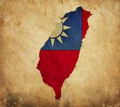 Archiwalne mapy z tajwanu na papier — Zdjęcie stockowe
