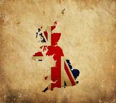Vintage map of United Kingdom on grunge paper — Stock fotografie