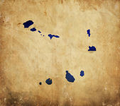Vintage map of Cape Verde on grunge paper — Stock Photo