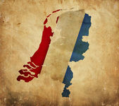 Vintage map of Netherlands on grunge paper — Stock Photo