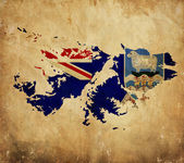 Vintage map of Falkland Islands on grunge paper — Stock Photo