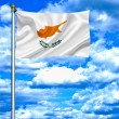 Cyprus waving flag against blue sky — Foto de Stock