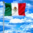 Mexico flag against blue sky — Stock Photo