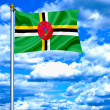 Dominicwaving flag against blue sky — Stockfoto #11034477