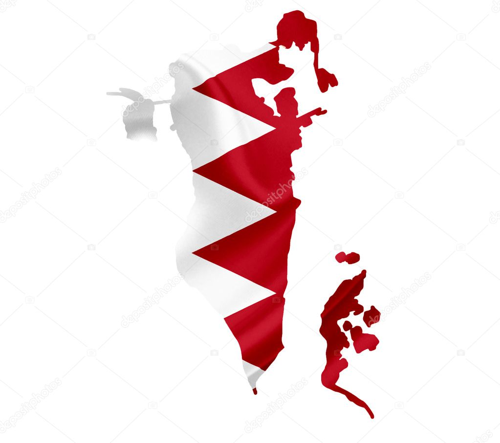 Bahrain Map Vector Map of Bahrain With Waving