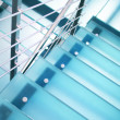 Modern glass staircase - Stock Photo