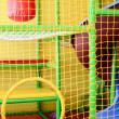 Kid playroom with safety net — Stock Photo
