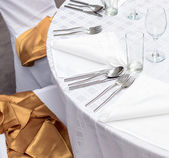 Fancy table set closeup — Stock Photo